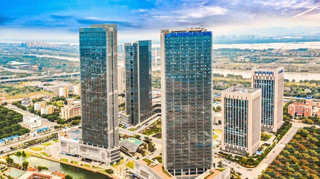 Hochhäuser aus der Luft