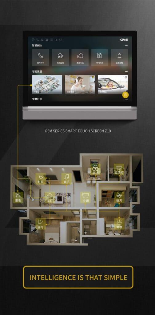 Visualisierung auf dem KNX Panel Smart Touch Z10