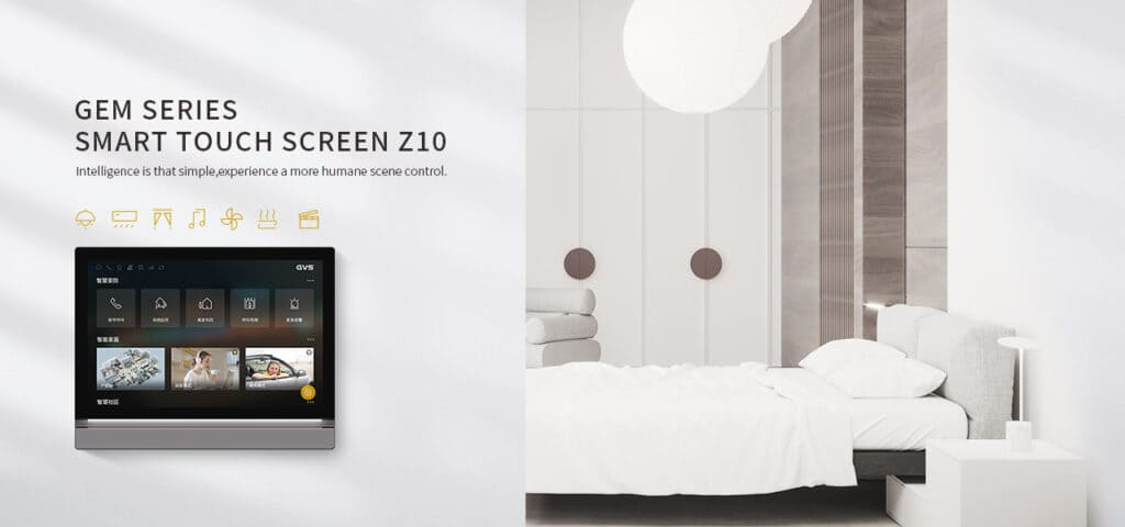 Z10 mit LED Leuchtband an Wand vor Schlafzimmer