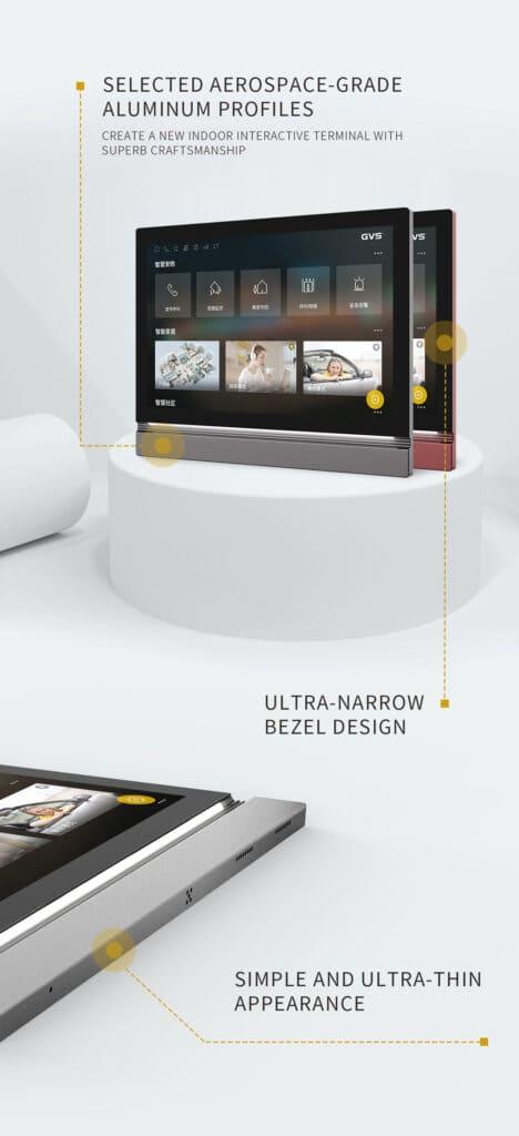 GVS KNX 10 Zoll Touchpanel Z10 mit dünnem Aluminiumrahmen