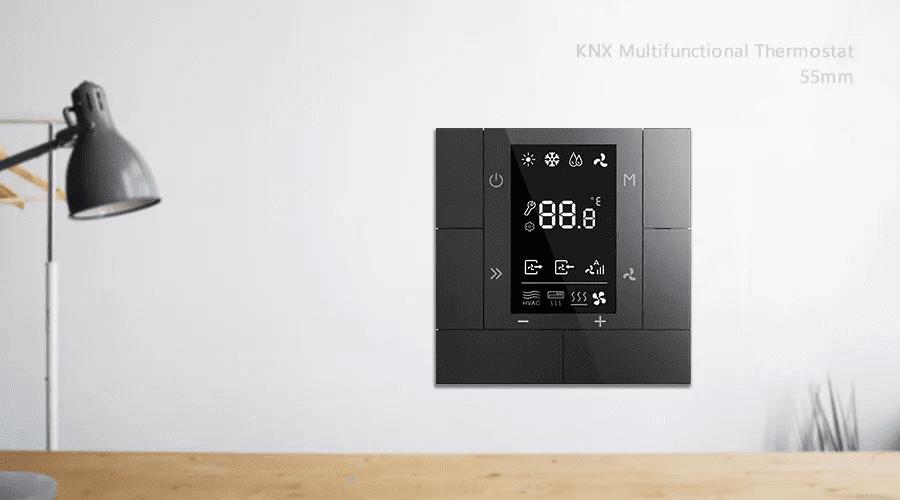 KNX Raumtemperaturregler RTR ADVANCE+ in Anthrazit