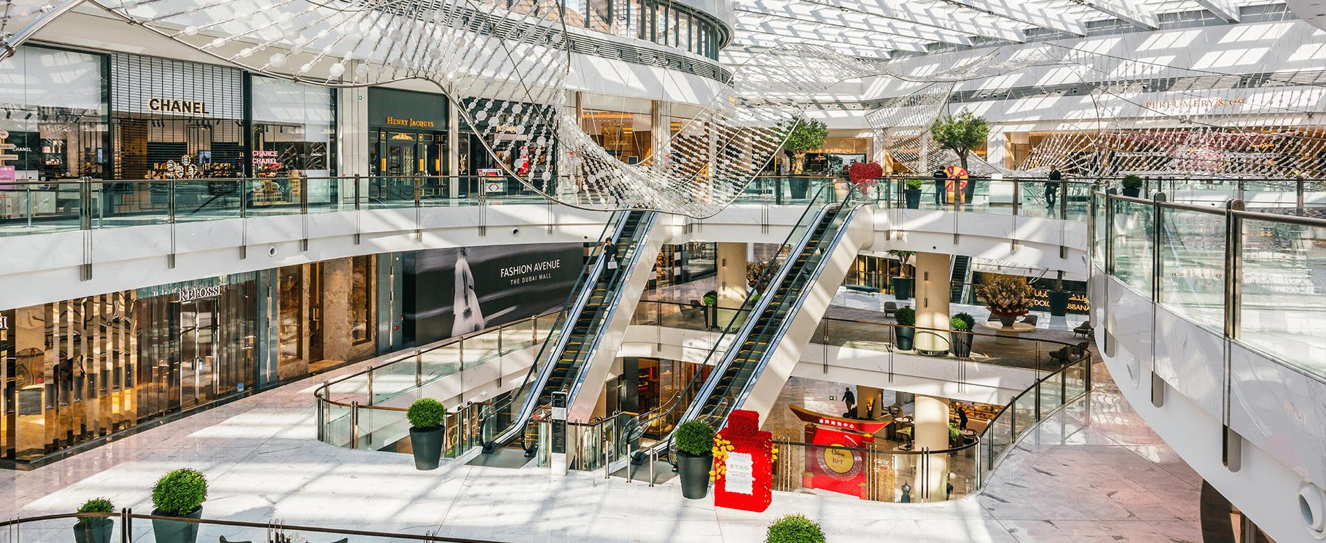 Helles Einkaufszentrum in Dubai