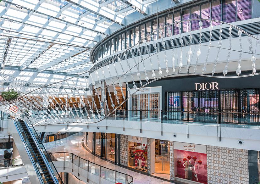 Einkaufszentrum mit KNX in Dubai