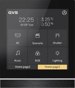 GVS KNX Touchdisplay Taster Favoritenseite
