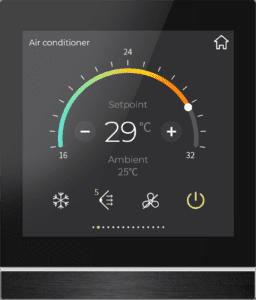 Klimasteuerung beim KNX Touchpanel V40