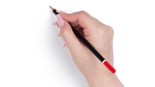 Bleifstift in einer Hand