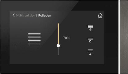 Rolladensteuerung und Jalousiesteuerung mit dem KNX Touchpanel V40 und V50