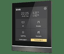 KNX Touchpanel V40 mit Favoritenseiten in Anthrazit