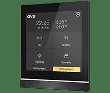 KNX Touchpanel V40 mit Favoritenseiten in Schwarz