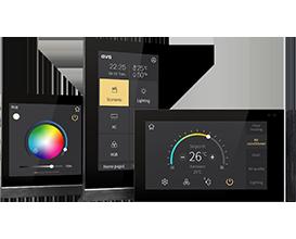 KNX Touchpanel V40 und V50 mit RGBW und Heizungssteuerung